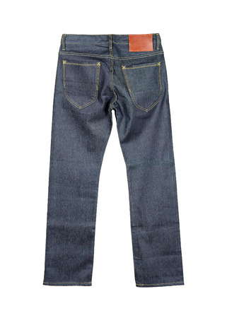 stride: jeans Isolated on the white background .