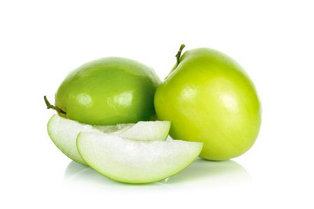 jujube fruits: Monkey apple isolated on the white background.