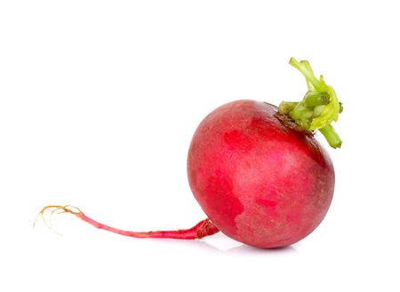 solated on white: Red radish solated on the white background. Stock Photo