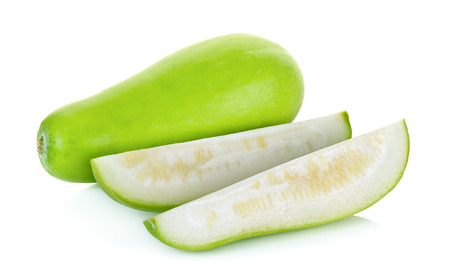 Sliced winter melon isolated on the white background 版權商用圖片