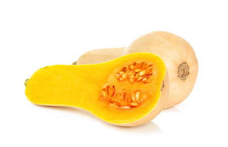 butternut: butternut squash isolated on the white background. Stock Photo