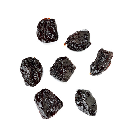 prune: Dried Prune isolated on the white background.