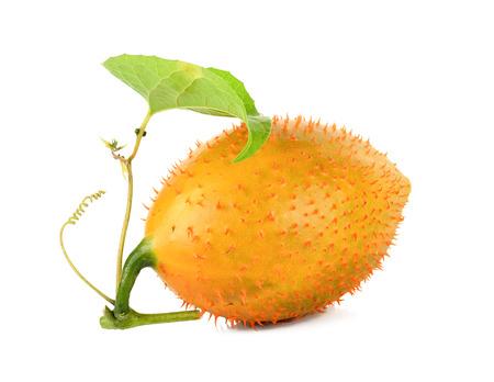 Gac fruit isolated on the white background.