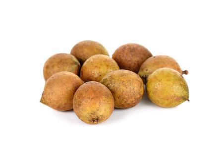 Schleichera oleosa (Lour.) Oken fruit isolated on white background. Stock Photo