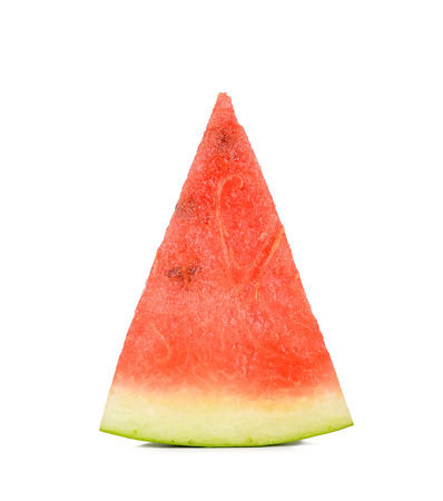sliced watermelon: Slice watermelon isolated on the white background. Stock Photo