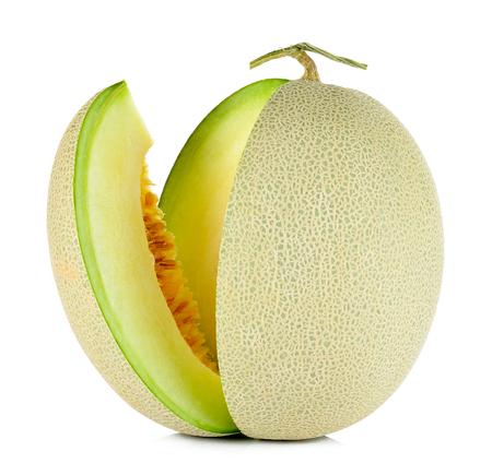 cantaloupe melon isolated on the white background.