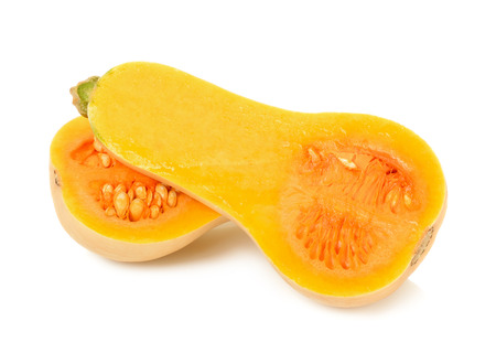 butternut squash isolated on the white background. Stock Photo