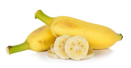 platano maduro: plátano maduro aislado en el fondo blanco.