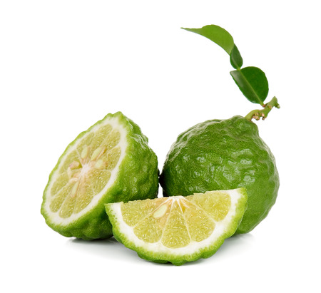 Bergamot isolated on the white background .