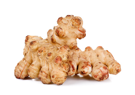 inulin: sunchoke isolated on the white background .