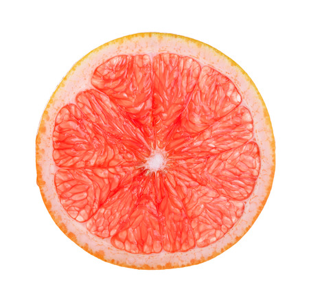 Half of Grapefruit isolated on the white background.