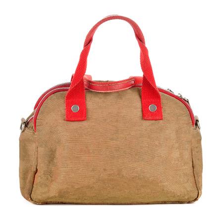 fabric fashion Bag isolated on white background .