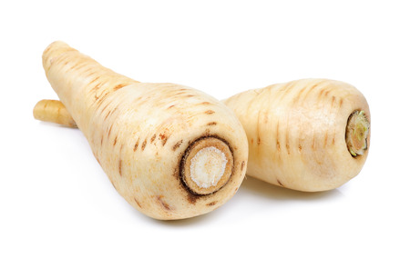 Parsnip isolated on the white background .