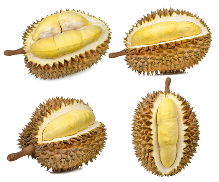 Durian isolated on the white background . Stock Photo - 81243424