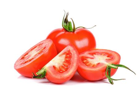 Tomato isolated on the white background .