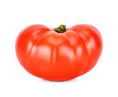 Heirloom tomato isolated on the white background. Stock Photo