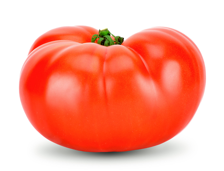 Tomato isolated on white with clipping path.