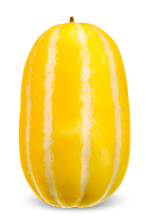 Korean melon isolated on white with clipping path.