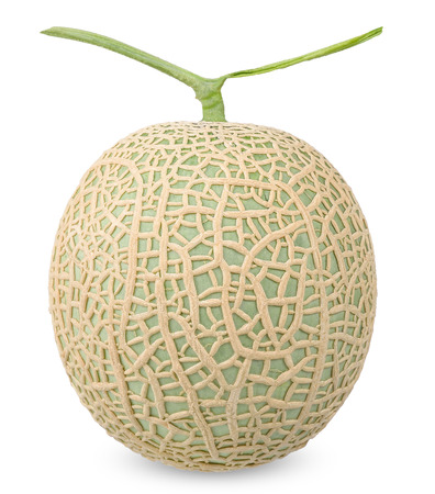 Melon isolated on white with clipping path.