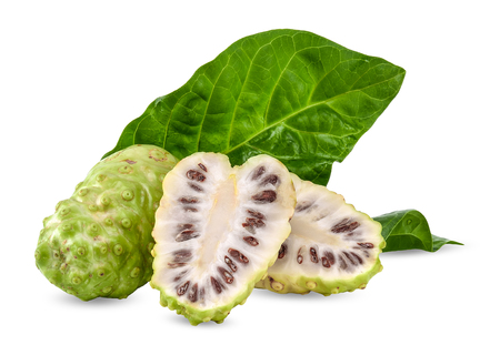Noni isolated on white background with clipping path Stok Fotoğraf