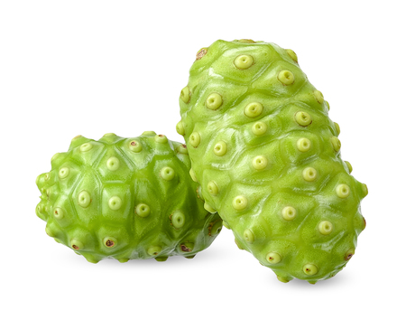 Noni fruit isolated on white with clipping path