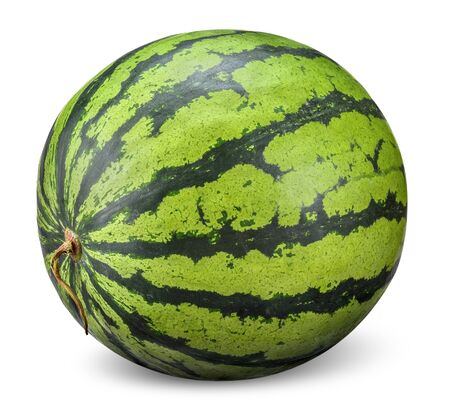 watermelon isolated on white, watermelon Stock Photo