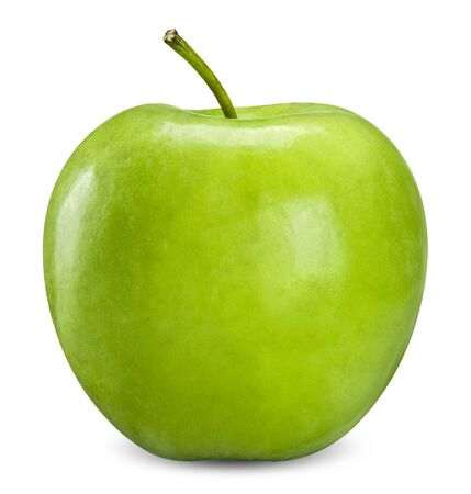 green apple isolated on white, apple clipping path