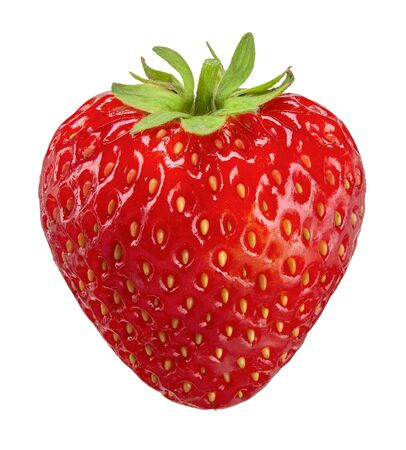 strawberry isolated on white, strawberry clipping path