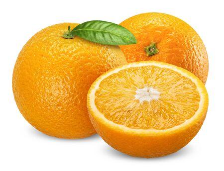 orange fruit isolated on white, orange clipping path Stockfoto