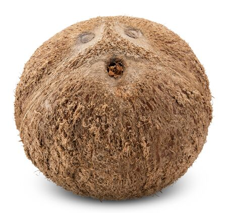 coconut isolated on white, coconut clipping path 스톡 콘텐츠