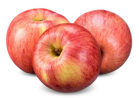 red apple isolated on white, apple with clipping path 스톡 콘텐츠