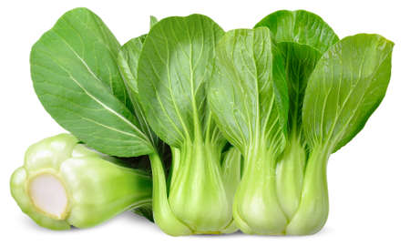 fresh Bok choy vegetable isolated on white