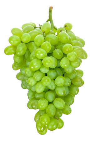 Green grape isolated on the white background 스톡 콘텐츠