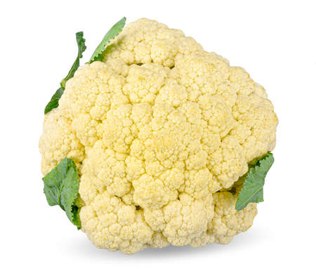 Cauliflower isolated on white background 스톡 콘텐츠