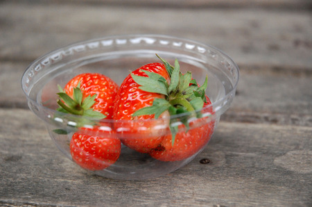palatable: Strawberry berries in glass palatable
