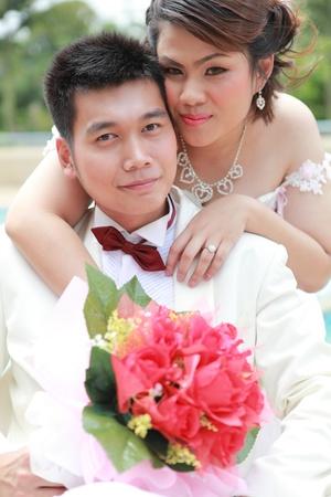 die Paare der vor Hochzeitsfest