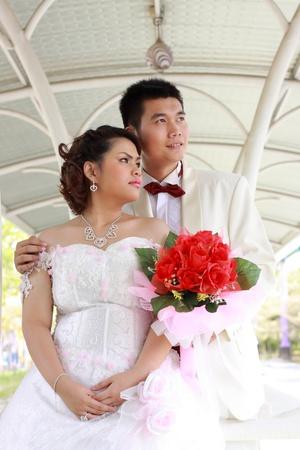 prewedding: wedding suit of couples Stock Photo