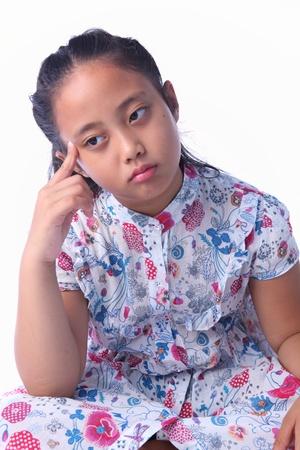 girl thinking Stock Photo - 10449842