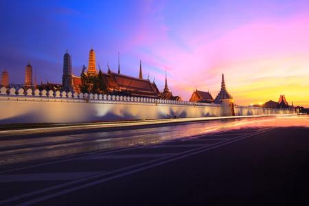 grand palace: grand palace bangkok thailand  in twilight