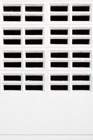 orificio nasal: blanco de la pared y espiráculo Foto de archivo