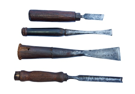 old wood cutting tool for carpenter