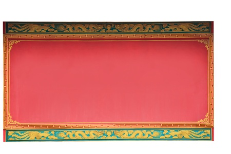 red banner chinese style for fill text  and wording Stock Photo - 12329477