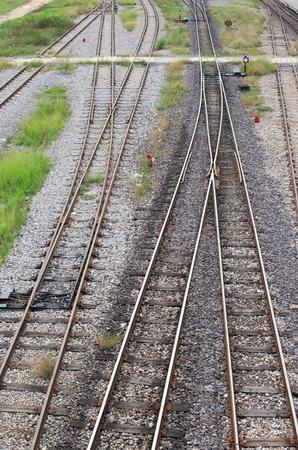 rail cross:  railway junction