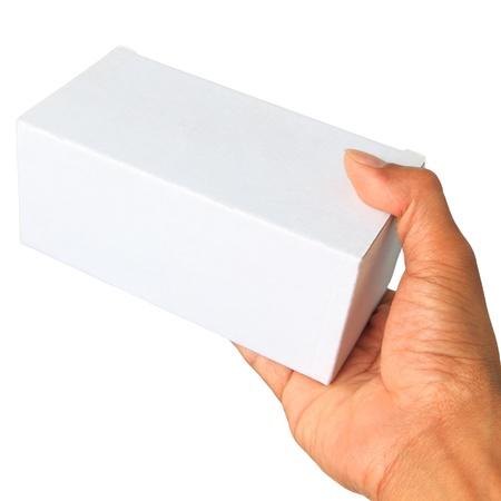 hand and white paper box photo