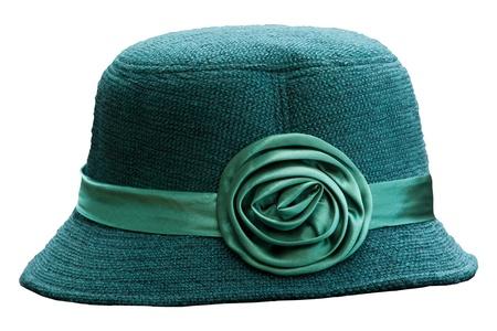 green english hat isolated white photo