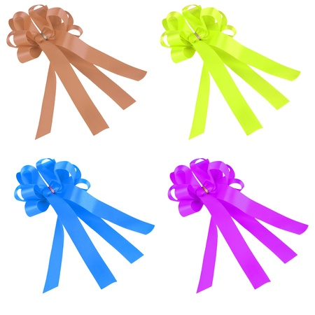 group of variety color ribbon photo