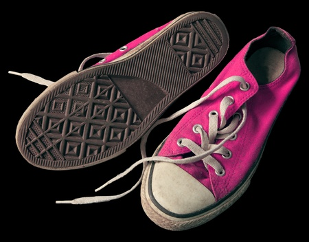 old pink shoes Stock Photo - 12724528
