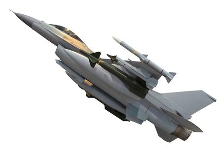 avion de chasse: militaire avion blanc isolé