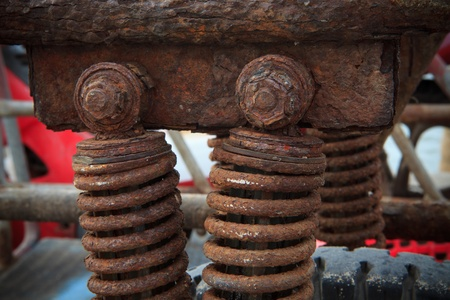 oxidado: Foto de archivo de óxido en el amortiguador