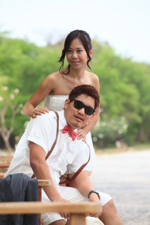 couples of asian people in love photo